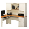 Sauder Harbor View Antiqued White L-Shaped Desk