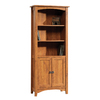 Sauder Rose Valley Abbey Oak 70.375-in 5-Shelf Bookcase