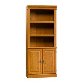 Sauder Library With Doors (Carolina Oak finish)