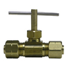 Watts 1/4-in Brass Compression In-Line Straight Valve