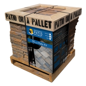 Sereno Rectangle Shape 50-sq -ft Patio on a Pallet Block Project Kit