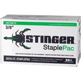 STINGER 2016-Count 0.375-in Round Plastic Cap Nails