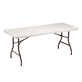 Style Selections 6' Rectangular Folding Banquet Table