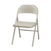 Style Selections Indoor/Outdoor Steel Buff Finish Standard Folding Chair
