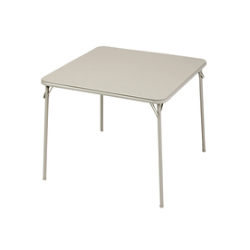 Style Selections 34-in x 34-in Square Steel Buff Lace Folding Table