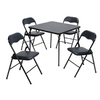 SuddenComfort 33.7-in x 33.7-in Square Steel Black Folding Table