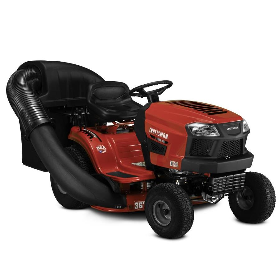 CRAFTSMAN T100 11.5-HP Manual/Gear 36-in Riding Lawn Mower with Mulching  Capability (Included) in the Gas Riding Lawn Mowers department at Lowes.com