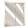 ReliaBilt Flush Mirror Sliding Closet Interior Door (Common: 60-in x 80-in; Actual: 60-in x 78-in)