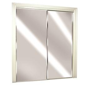 Stanley Frameless Steel Bottom Roll Mirrored Sliding Door At Lowes Closet Interior Doors House