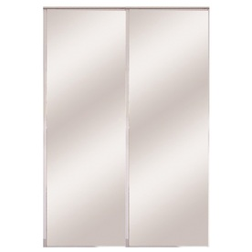 ReliaBilt Flush Mirror Bi-Fold Closet Interior Door (Common: 24-in x 80-in; Actual: 24-in x 78.56-in)