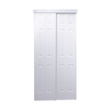 ReliaBilt 48-in x 80-1/2-in White 6-Panel Interior Sliding Door