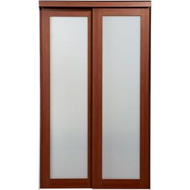 ReliaBilt 1-Lite Frosted Glass Sliding Closet Interior Door (Common: 60-in x 80-in; Actual: 60-in x 78.68-in)
