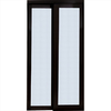 ReliaBilt 48-in x 80-in Espresso Full Lite Interior Sliding Door