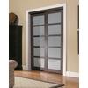 ReliaBilt 5-Lite Frosted Glass Sliding Closet Interior Door (Common: 48-in x 80-in; Actual: 48-in x 78.6875-in)