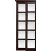 KingStar 48-in x 80.5-in Espresso 5-Lite Interior Sliding Door