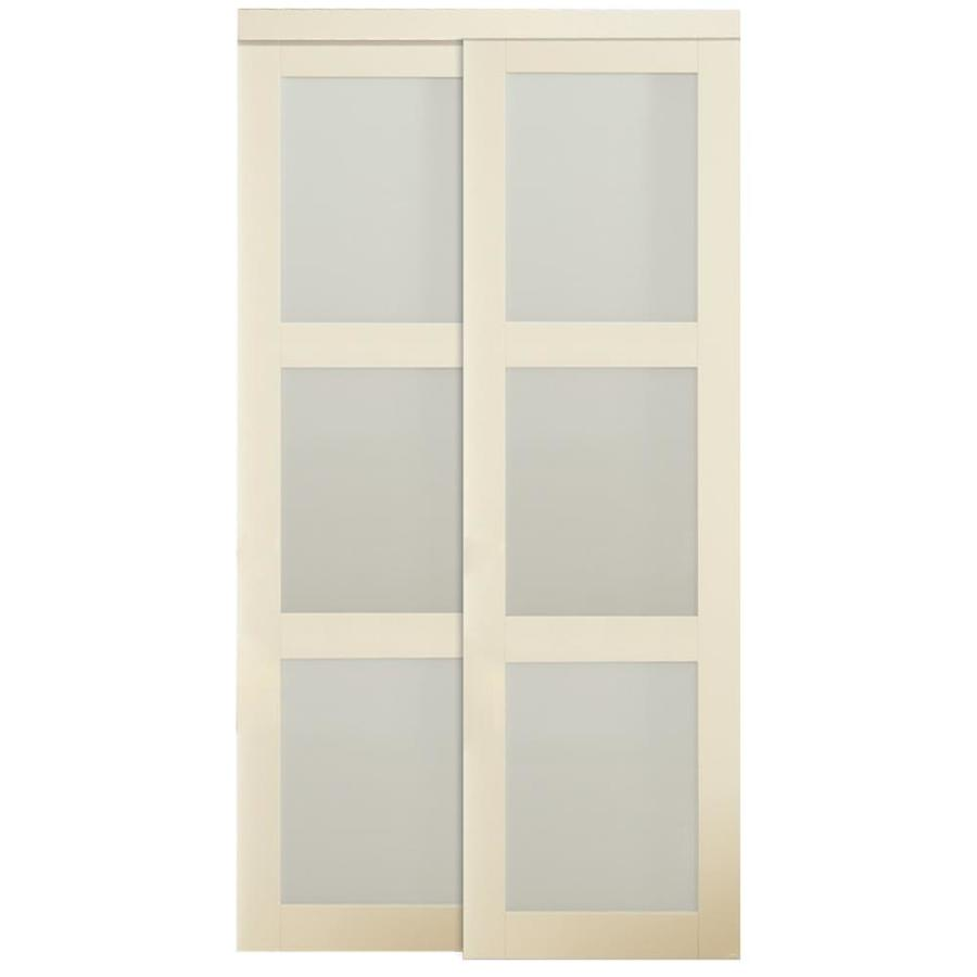 Shop kingstar 3 lite sliding door common 48 in x 80 5 in for Sliding closet doors
