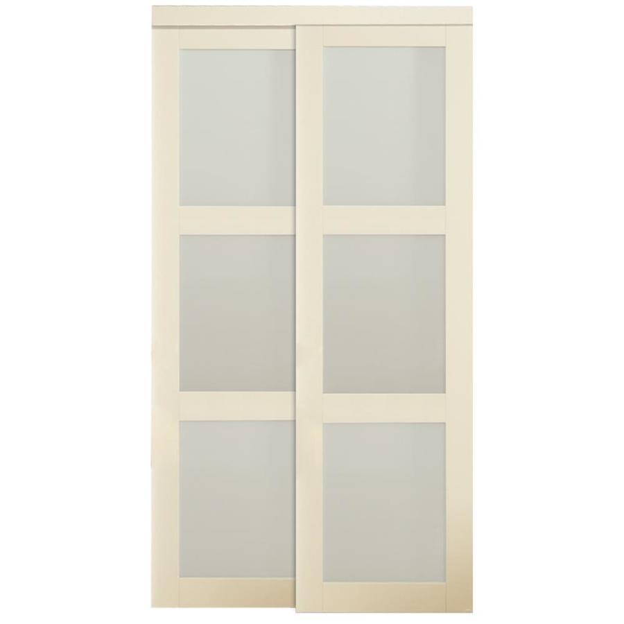 Shop Kingstar 3 Lite Sliding Door Common 48 In X 80 5 In Actual 48 In X 80 In At Lowes Com