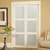 ReliaBilt 3-Lite Frosted Glass Sliding Closet Interior Door (Common: 48-in x 80-in; Actual: 48-in x 78.68-in)