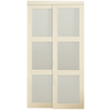 KingStar 72-in x 80-in White 3-Lite Interior Sliding Door