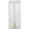 ReliaBilt 30-in x 80-in White 1-Lite Solid Core Tempered Frosted Glass Interior Bifold Closet Door