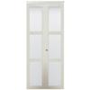 KingStar 3-Lite Frosted Glass Bi-Fold Closet Interior Door (Common: 36-in x 80-in; Actual: 36-in x 78.68-in)
