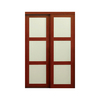 KingStar 60-in x 80-in Cherry 3-Lite Interior Sliding Door