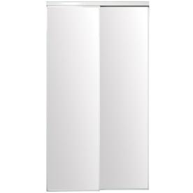 ReliaBilt Flush Mirror Sliding Closet Interior Door (Common: 36-in x 80-in; Actual: 36-in x 78-in)
