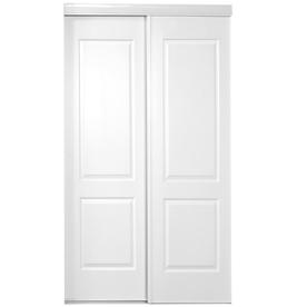 ReliaBilt White 2-Panel Square Sliding Closet Interior Door (Common: 60-in x 80-in; Actual: 60-in x 78-in)