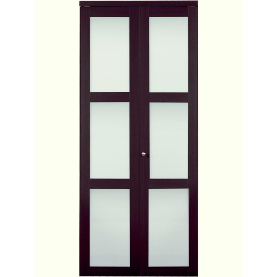 Shop reliabilt espresso 3 panel square solid core smooth for 18 bifold door