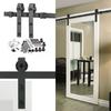 78.75-in Matte Black Steel Interior Barn Door Roller Kit
