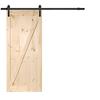 Solid Core Z-Frame Pine Barn Interior Door (Common: 36-in x 84-in; Actual: 36-in x 84-in)