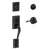 Schlage F Addison Aged Bronze Dual-Lock Keyed Entry Door Handleset