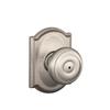 Schlage F Decorative Camelot Collections Georgian Satin Nickel Round Push Button-Lock Privacy Door Knob