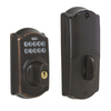 Schlage LiNK Re-Key Techonology Aged Bronze Residential Single-Cylinder Electronic Deadbolt