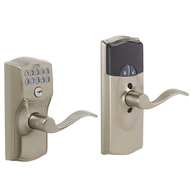 Schlage Schlage Link Satin Nickel Universal Electronic Entry Door Lever