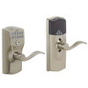 Schlage LiNK Satin Nickel Residential Electronic Door Lever