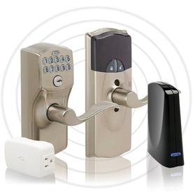 Schlage Schlage Link Satin Nickel Universal Electronic Entry Door Lever