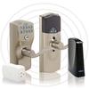Schlage Link Satin Nickel Electronic Entry Door Lever