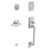 Schlage Century Satin Nickel Single-Lock Keyed Entry Door Handleset