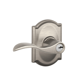 Schlage Camelot Collection Traditional Satin Nickel Universal Keyed Entry Door Lever