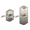 Schlage Camelot Satin Nickel Universal Residential Keyed Entry Door Lever