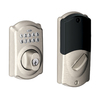 Schlage Nexia Home Intelligence Satin Nickel Residential 6-Cylinder Mechanical Electronic Deadbolt