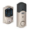 Schlage Camelot Satin Nickel Residential Single-Cylinder Motorized Electronic Entry Door Deadbolt with Keypad