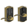 Schlage Touch Camelot Antique Brass Electronic Entry Door Lever