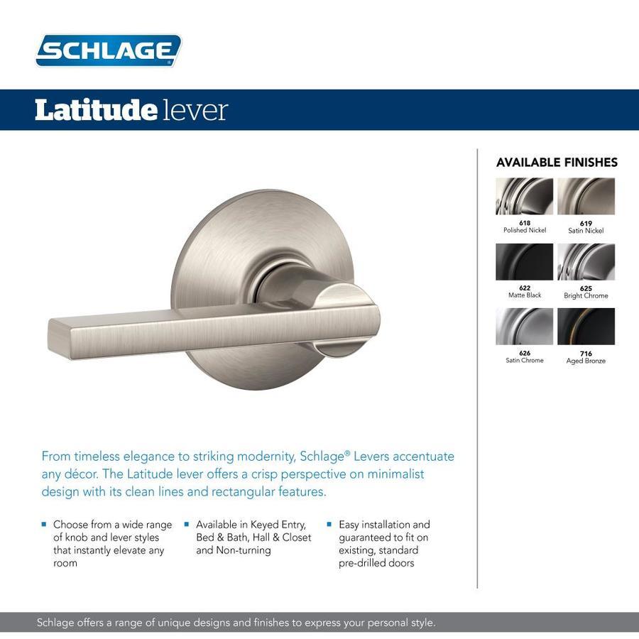 Aged Bronze Schlage F10 LAT 716 Latitude Passage Lever