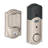 Schlage Sense Camelot Satin Nickel Single-Cylinder Motorized Touchscreen Electronic Entry Door Deadbolt with Keypad