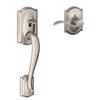 Schlage Camelot Adjustable Satin Nickel Entry Door Exterior Handle