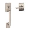 Schlage Century Adjustable Satin Nickel Entry Door Exterior Handle