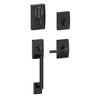 Schlage Touch Century Matte Black Electronic Entry Door Handleset