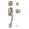Schlage Camelot Satin Nickel Single-Lock Keyed Entry Door Handleset